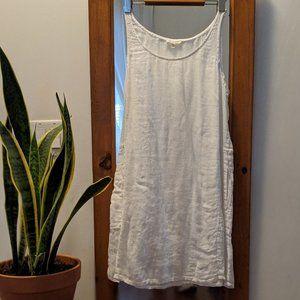 Eileen Fisher Organic Linen Gauze Tunic Dress